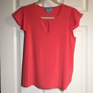 pink/orange blouse. very comfy material